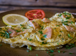 Salmon omlette image