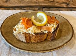 Smoked salmon & celeriac tartine image