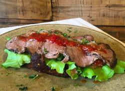 Steak & prosciutto sandwich image