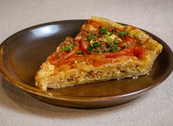 Tomato Provencale tart slice image