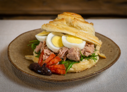 Tuna croissant sandwich image