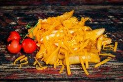 Cartofi prăjiți cu brânză cheddar