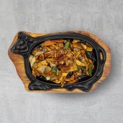 Carne de pui la plită încinsă cu sos Chilli image