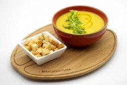 Creamy red lentil soup image