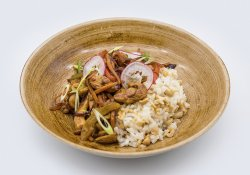 Asian Spicy Chicken with Rice