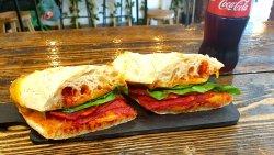 Bergamo cheddar chorizo sandwich image