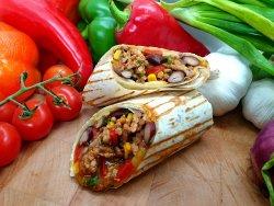 Mexican chilli con carne burrito image