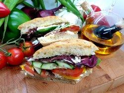 Greece vegetarians delight sandwich  image