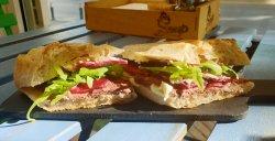 Roast beef & cheese sandwich  image