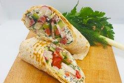 Summer vegetables wrap - vegetarian image