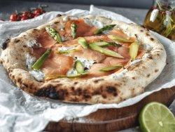 Pizza con salmone - 28 cm image