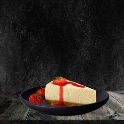 Cheesecake cu topping căpșuni