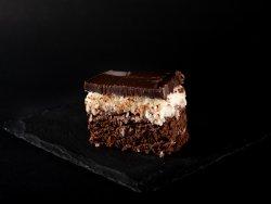 Chocolate coconut brownie image