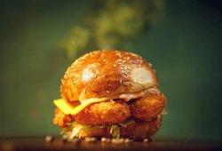 C.P.F.P.B. Crispy Panko Fried Prawns Burger image