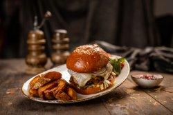 Meniu Double Smashburger cu cartofi wedges homemade și sos muştar şi miere image