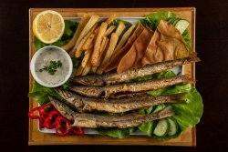 Platou cu pește Malifa și cartofi prăjiți  image
