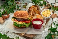 Meniu burger halloumi image