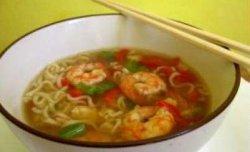 Supa chinezeasca cu fructe de mare