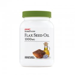 GNC SUPERFOODS FLAX SEED OIL 1000MG, ULEI DIN SEMINTE DE IN, 90 CPS