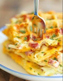 Omleta cu sunca si mozzarella image