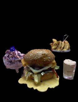 Burger full of cheese image