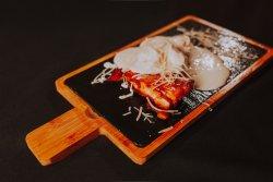 Salmone con panna e gamberii  image