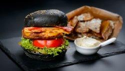 Fat Vegan Burger cu cartofi wedges  image