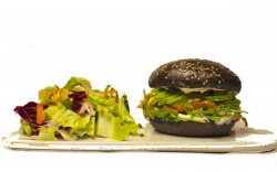 Somon Avo Burger cu salata mixtă