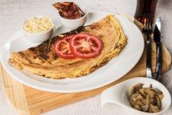 Omletă cu bacon+cașcaval+ciuperci image