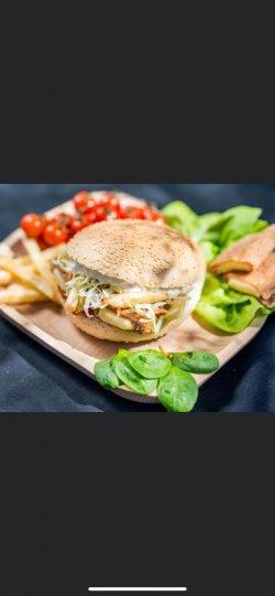 Hamburger ceafă porc
