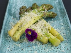 Asparagus grilled/sote with parmiggiano image
