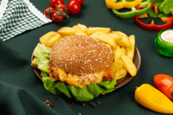 Burger crispy chicken image