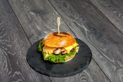 Grilled Mushrooms Swish Burger