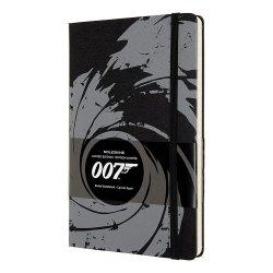 Carnet - Moleskine - James Bond 007 Limited Edition - Hard Cover, Large, Ruled - Black