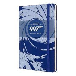 Carnet - Moleskine - James Bond 007 Limited Edition - Hard Cover, Large, Ruled - Blue