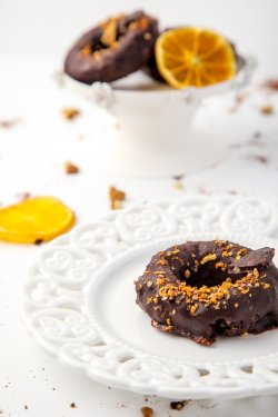 50019 Donuts cu ciocolată (Produs Congelat)/ Chocolate donuts image
