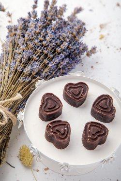 50021 Inimioare de ciocolată (Produs Congelat)/ Chocolate hearts image