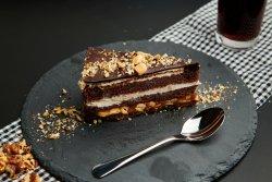 Nuts caramel caake image
