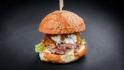 Blue burger image