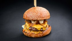 Double bbq burger image