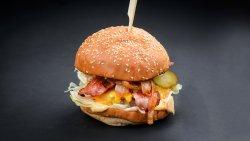 Juicy bacon burger image