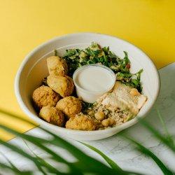 Fresh bowl falafel image