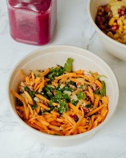 Fresh bowl humus tabouleh image