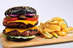 Meniu Burger Double Cheese & Pancetta  image