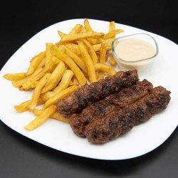 Meniu 3 mici cu cartofi prăjiți/3x Grilled minced meat rolls with french fires menu image