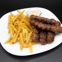 Meniu 5 mici cu cartofi prăjiți/5x Grilled minced meat rolls with french fires menu image