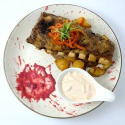 Coaste de porc la cuptor cu sos barbeque  image
