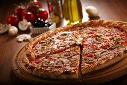Pizza funghi salami image