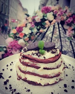 Pancake Oreo Cheesecake image