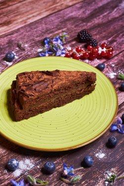 Triple chocolate cake image